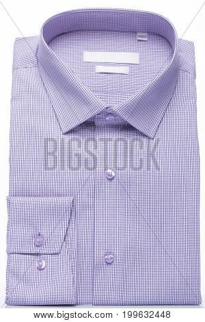 Mens lilac shirt on a white background. Vertical