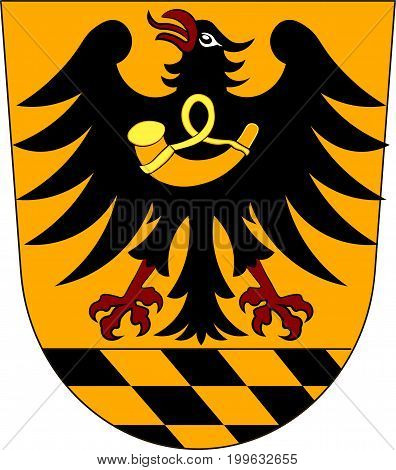 Coat of arms of Esslingen is a district in the centre of Baden-Wurttemberg Germany. Vector illustration from the