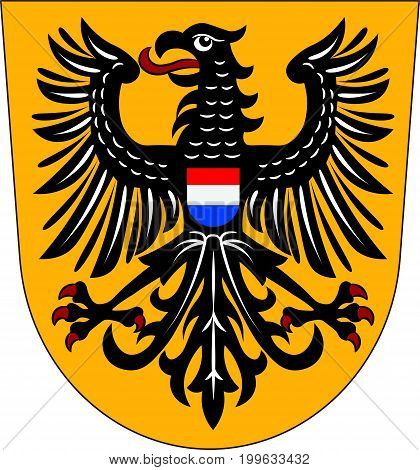 Coat of arms of Heilbronn is a city in northern Baden-Wurttemberg Germany. Vector illustration from the
