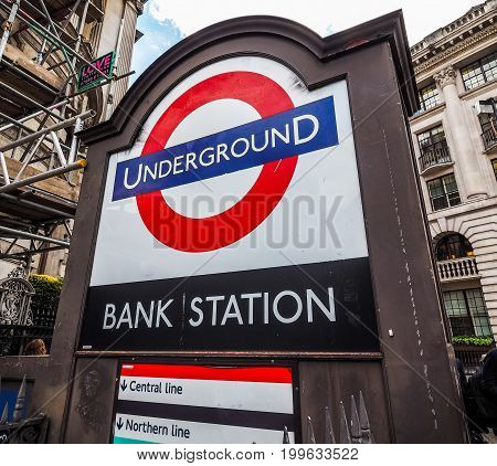 Bank Tube Station In London (hdr)