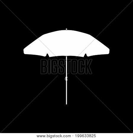 Beach Umbrella White Color Icon .