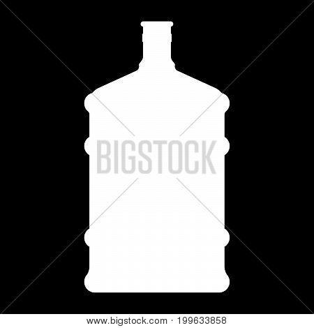 Dispenser Large Bottles White Color Icon .