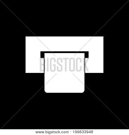 Atm Card Slot  White Color Icon .