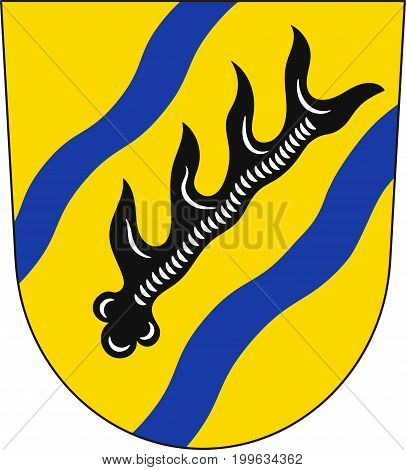 Coat of arms of Rems-Murr is a district in the middle of Baden-Wurttemberg Germany. Vector illustration from the