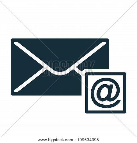 Envelope Icon Flat Black Closed Email