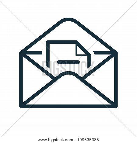 Envelope Icon Flat Transparent Open Document