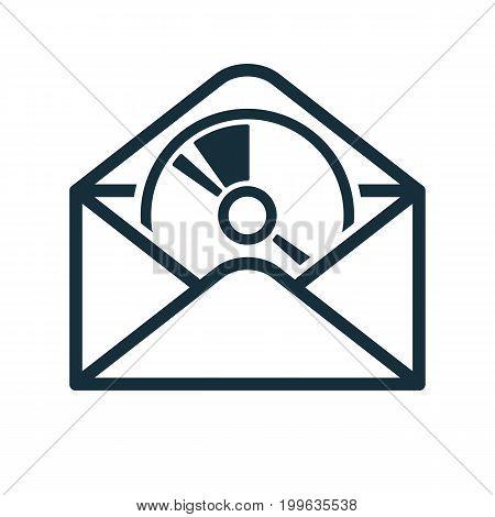 Envelope Icon Flat Transparent Open Disc