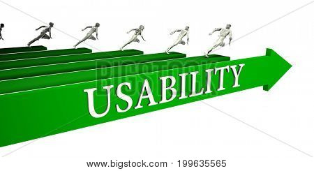 Usability Opportunities as a Business Concept Art 3D Illustration Render