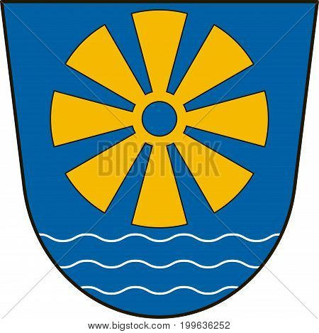 Coat of arms of Bodensee district in the south-east of Baden-Wurttemberg Germany. Vector illustration from the