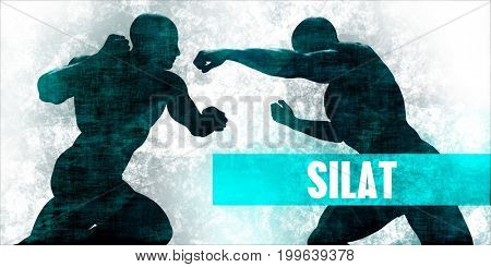 Silat Martial Arts Self Defence Training Concept 3D Illustration Render