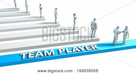 Team player as a Skill for A Good Employee 3D Illustration Render