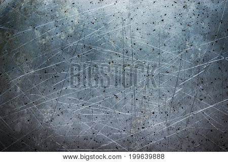 Steel Texture, Dark Background Brushed Iron Close-up