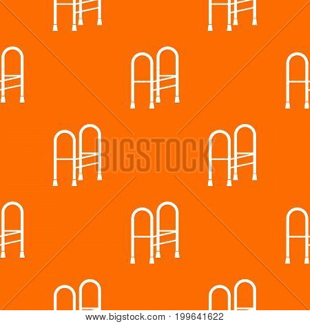Walker pattern repeat seamless in orange color for any design. Vector geometric illustration