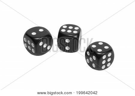 Three Dice Isolated On White Background