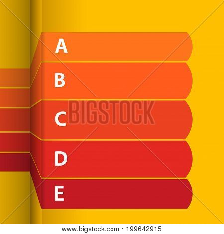 Red and Yellow Blank Paper Stripes Infographic