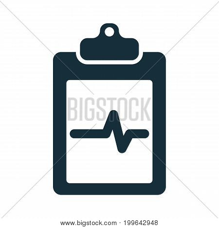 Cardiology Wave Monitor Report Blank Icon
