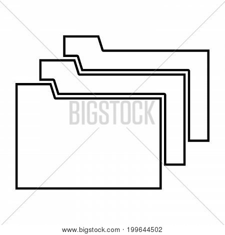 Folders Black Color Icon .