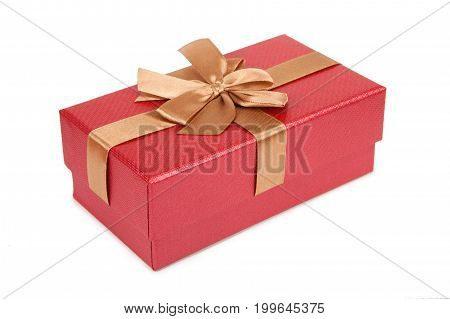 Red Fancy Box On White Background