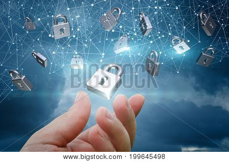 Network With Security Locks .