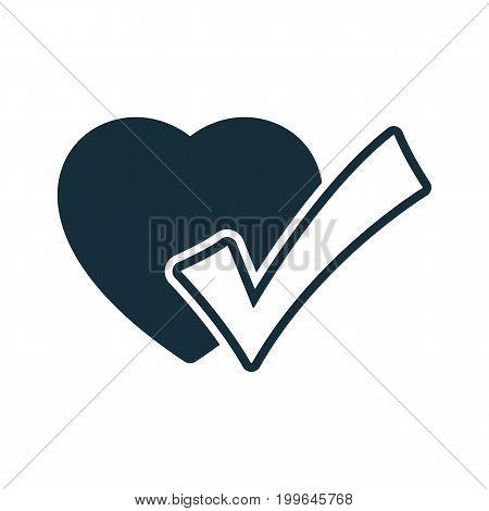 Heart Pulse Ok Check Icon