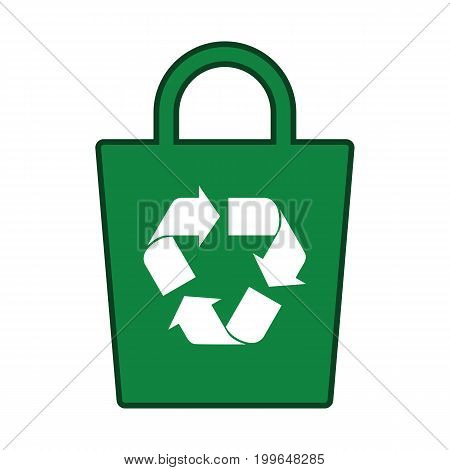 Recycle Icon Green Bag