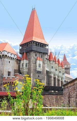 The Corvinesti castle (Hunyad castle), Hunedoara, Transylvania, Romania, Europe