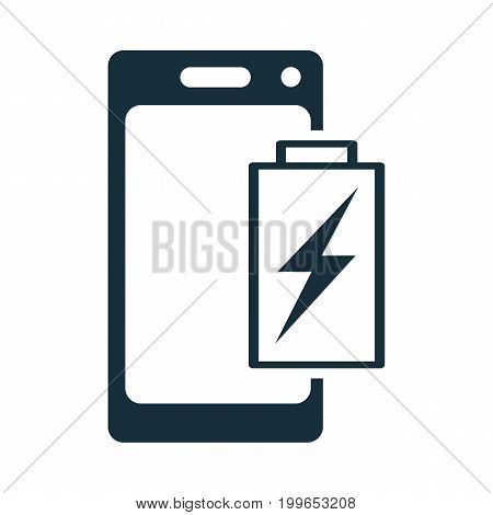 Mobile Phone Battery Charging Icon