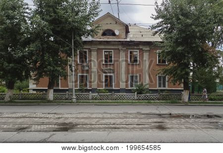 Kazakhstan, Ust-Kamenogorsk, august 1, 2017: Old building in the city, old architecture