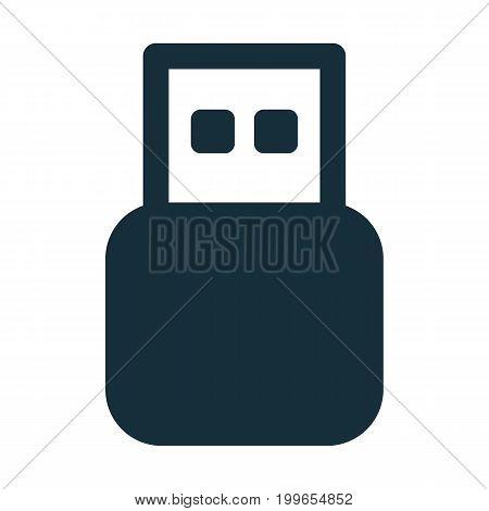 Usb Flash Icon Black