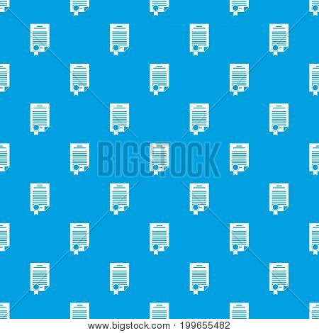 Contract pattern repeat seamless in blue color for any design. Vector geometric illustration
