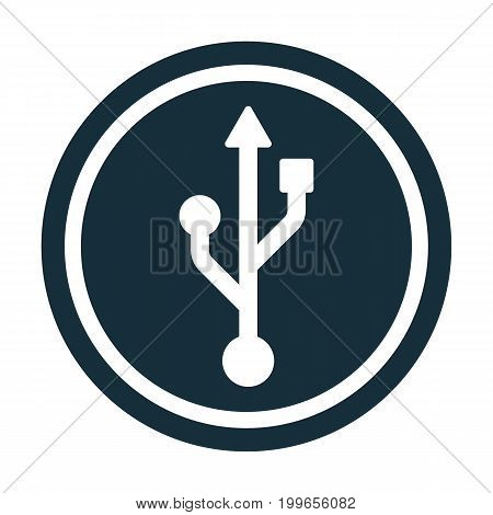 Usb Icon Transparent Icon In Circle