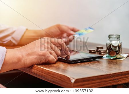 Technology Network And Online Banking And Internet Banking And Networking People Concept