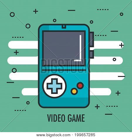 game portable switch console with gamepad vector illustration