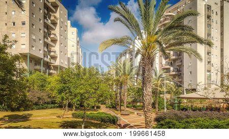 Beautiful Green Park In Residential Neighborhood