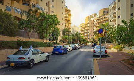 Quiet Residential Street In New Neighborhood