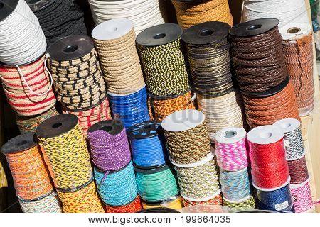 Set Of Rolls Of Hand Made Thread