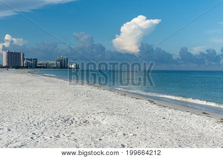 Above Clearwater Beach it's going to thunderstorm, Pinellas County, Florida