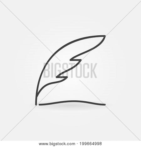 Writing concept icon - vectpr thin line modern feather symbol