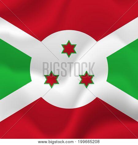 Burundi waving flag. Waving flag. Vector illustration.
