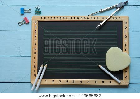 Top Shot Of School Chalk Desk