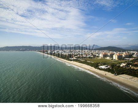 Aerial View Jurere Beach In Florianopolis, Brazil. July, 2017.