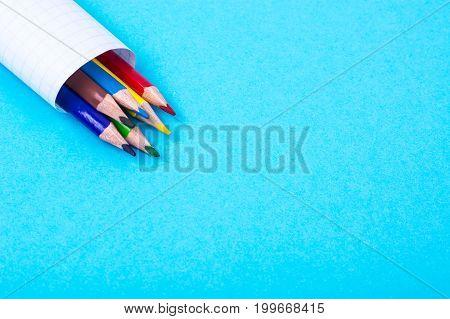 Colored pencils on bright pastel paper. Studio Photo