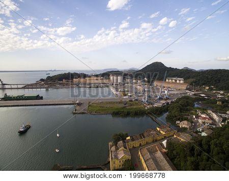 Port Of Sao Francisco Do Sul City. Santa Catarina. July, 2017