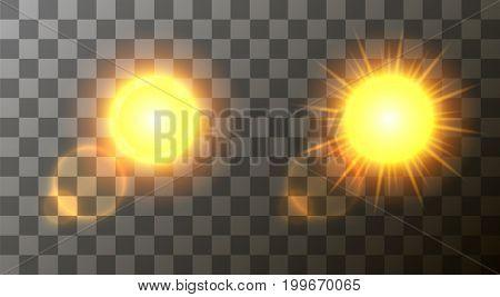 Vector modern sun set background. sunshine design. Eps10