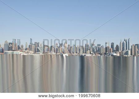 Digital art. New York cityscape.