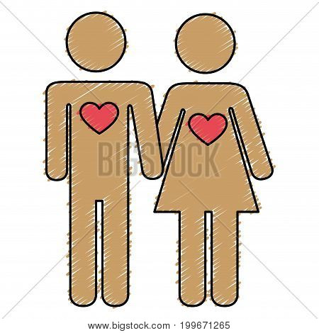 lovers couple isolated icon vector illustration design
