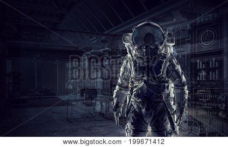 Space suit design. Mixed media