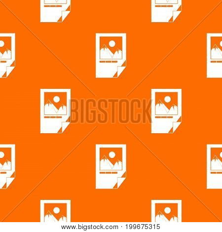 Tested ink paper with printer marks pattern repeat seamless in orange color for any design. Vector geometric illustration