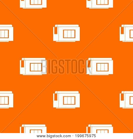 Inkjet printer cartridge pattern repeat seamless in orange color for any design. Vector geometric illustration