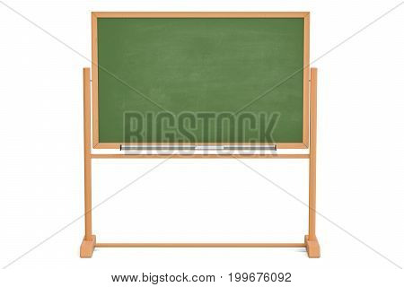 Green blackboard chalkboard. 3D rendering isolated on white background